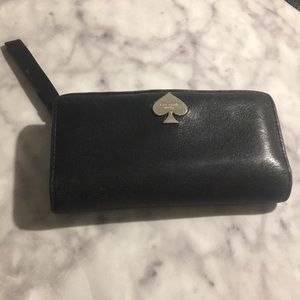 •Kate Spade• Womens large black leather wallet